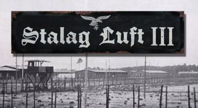 Stalag Luft 3 road sign - World War two repro road sign