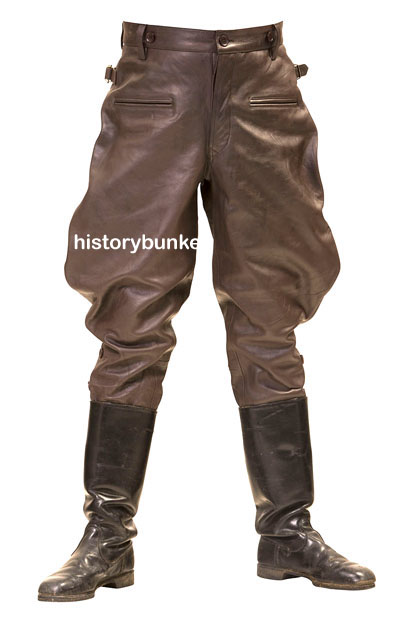 WW2 German M32 leather breeches brown