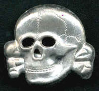SS Officer Visor Cap Skull (late version)