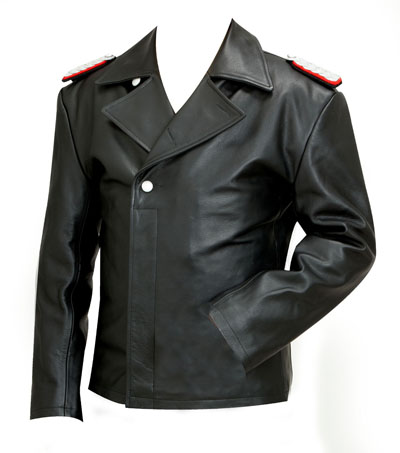 WW2 German Leather U Boat Kriegsmarine jacket BLACK - Panzer wrap style - WW2 German leather coats