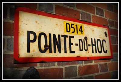 Point du Hoc oad sign - World War two repro road sign