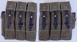 mp44 ammo pouches 1 pair - WW2 German field equipment