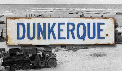 Dunkerque road sign - World War two repro road sign