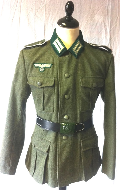 WW2 German M36 wool field grey tunic with Heer insignia