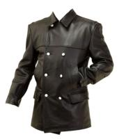WW2 German Leather U Boat Kriegsmarine leather deck jacket BLACK- WW2 German leather coats