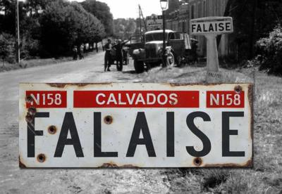 Falaise road sign - World War two repro road sign