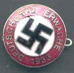 Deutschland Erwache Nazi Party Badge