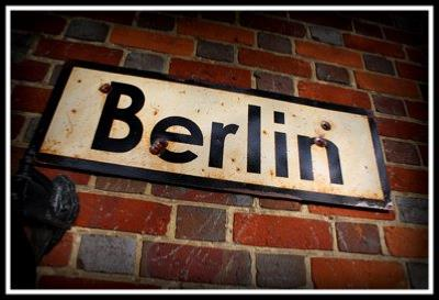 Berlin road sign - World War two repro road sign