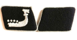 Wiking Officers   - SS collar tabs