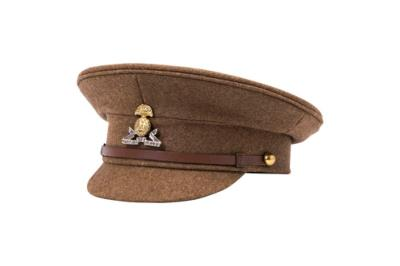 ww1 British stiff peak cap serge wool badge not included