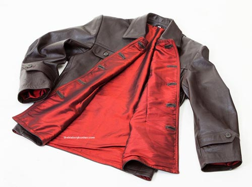 WW2 Soviet Red Army tank crew jacket BROWN LEATHER