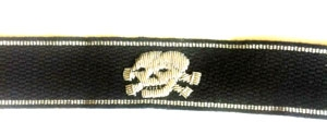 Totenkopf Skull - Officers cuff title - silver wire bullion