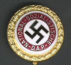 Golden Nazi Party Badge