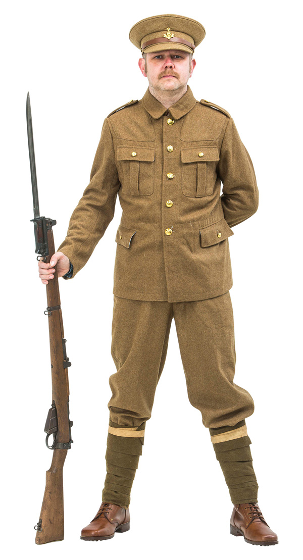 WW1 BRITISH SOLDIER UNIFORM 1914 version