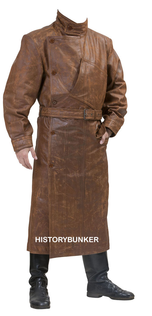 WW1 British Royal Flying Corps leather coat Brown Vintage