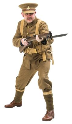 WW1 British Army Uniforms and WW1 German army uniforms