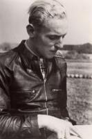 WW2 German leather Luftwaffe jacket Eric Hartman