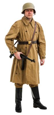 WW2 German Afrika Korps Windproof Overcoat Kradmantel
