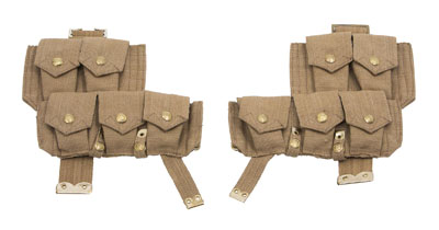WW1 British p08 ammo pouches 1 x pair