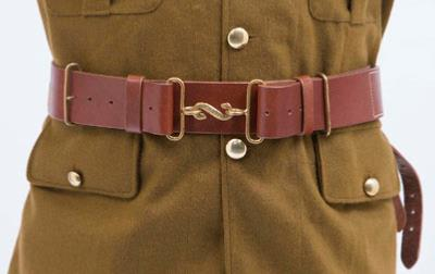 WW1 British p14 leather waist belt