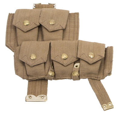 WW1 British p08 ammo pouches left side