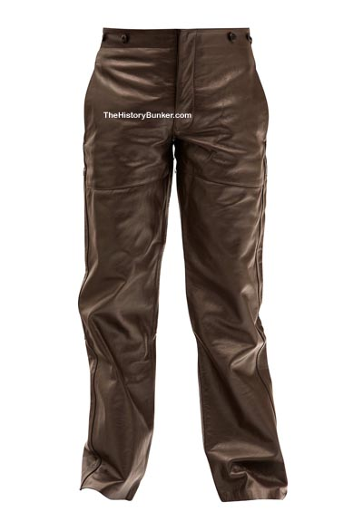 WW2 German M36 leather trousers brown