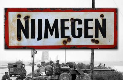 Nijmegen road sign - World War two repro road sign