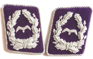 Luftwaffe Rocket korps - purple collar tabs - very rare