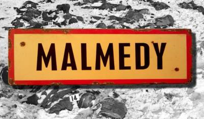Malmedy road sign - World War two repro road sign