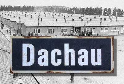 Dachau road sign - World War two repro road sign