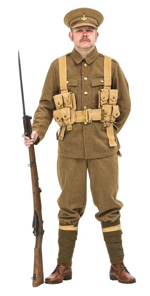 WW1 BRITISH SOLDIER UNIFORM 1914 version with webbing