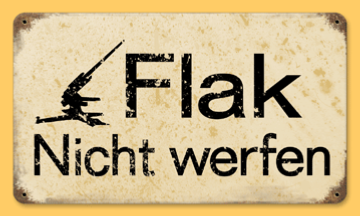 "Reproduction WW2 German Metal Road sign ""Flak"