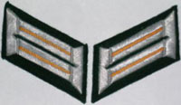 Heer Collar Tabs enlisted man - artillery