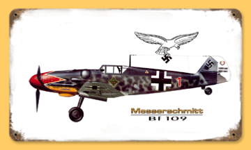 "Reproduction WW2 German Metal Road sign ""BF 109"""