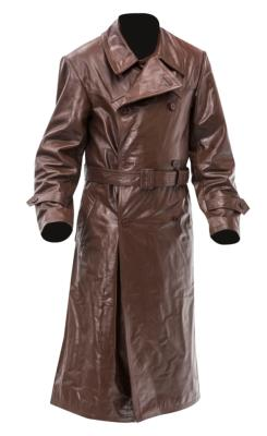 WW2 German Gestapo Leather trench coat - BROWN LEATHER