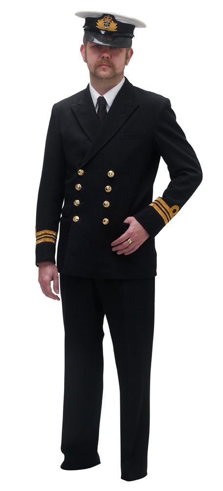 Royal Navy officers uniform for hire - Costumes for Goodwood Revival, Haworth fourties weekend and