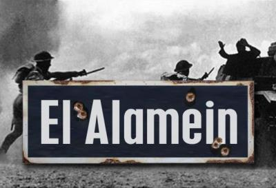El Alamein road sign - World War two repro road sign
